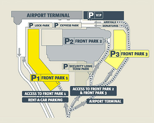 Схема аэропорта Чикаго ORD