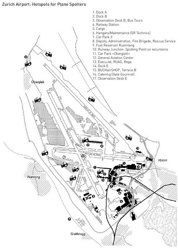 Схема аэропорта Цюриха.